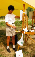 Jacque painting in Italy
